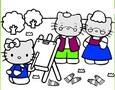 Permainan Hello Kitty mewarnai Online